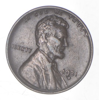 1931-D Lincoln Wheat Cent - Charles Coin Collection