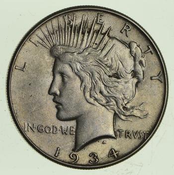 1934 Peace Silver Dollar - Circulated