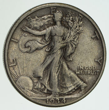 1934-S Walking Liberty Half Dollar - Circulated