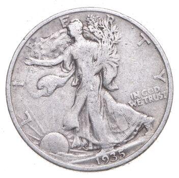 1935 Walking Liberty 90% Silver US Half Dollar