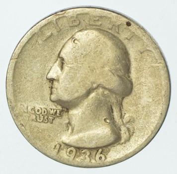 1936 Washington Quarter 90% Silver