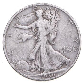 1936-S Walking Liberty 90% Silver US Half Dollar