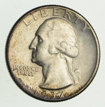 1937 Washington Silver Quarter - Uncirculated