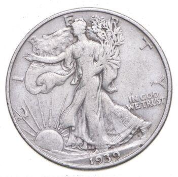 1939-D Walking Liberty 90% Silver US Half Dollar