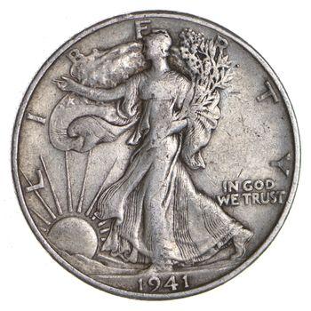 1941-D Walking Liberty 90% Silver US Half Dollar