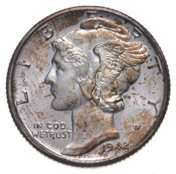 1942-D Mercury Dime