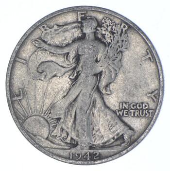 1942-S Walking Liberty 90% Silver US Half Dollar