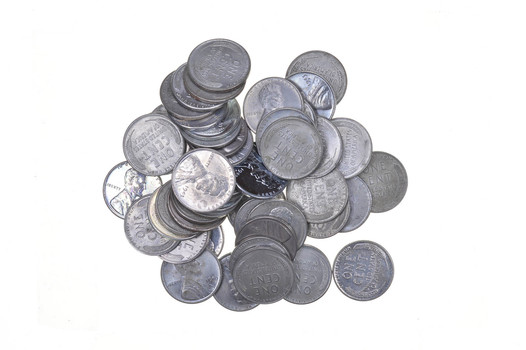 1943 STEEL Cent - WWII - 50 Coins - Entire Roll Collection Lot
