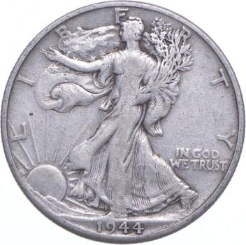 1944-D Walking Liberty 90% Silver US Half Dollar