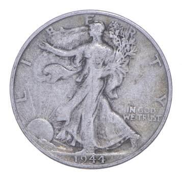1944-S Walking Liberty 90% Silver US Half Dollar