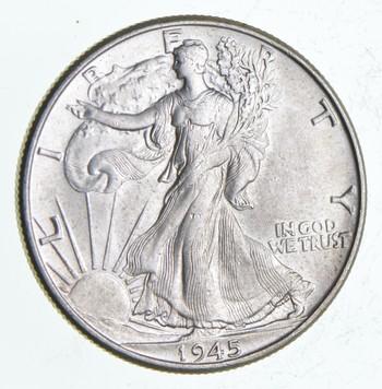 1945 Walking Liberty Half Dollar - Charles Coin Collection