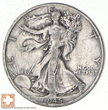 1945-D Walking Liberty 90% Silver US Half Dollar