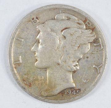 1945-S Mercury Liberty 90% Silver United States Dime