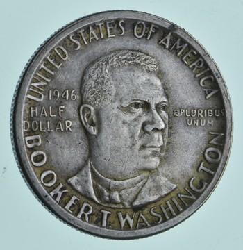 1946-D Booker T Washington - US Commemorative Half Dollar - 90% Silver -