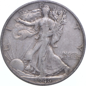 1946-S Walking Liberty 90% Silver US Half Dollar