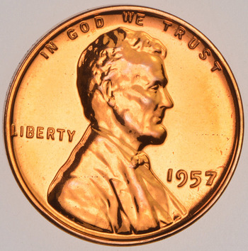 1957 PROOF Lincoln Wheat Cent - Tough