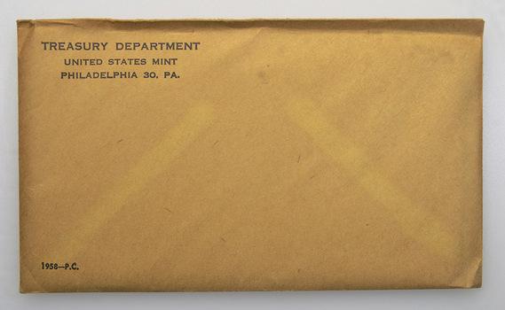 1958 US Proof Set - 5 Coins Penny Nickel Dime Quarter Half Dollar