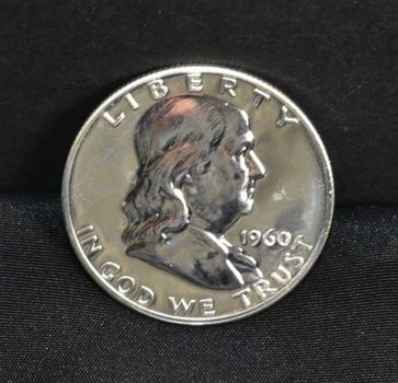 1960- PROOF 90% Silver Franklin Half Dollar
