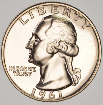 1961 PROOF 90% Washington Quarter
