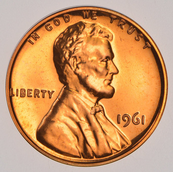 1961 PROOF Lincoln Memorial Cent