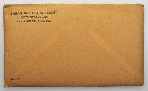 1961 US Proof Set - 5 Coins Penny Nickel Dime Quarter Half Dollar