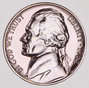 1962 PROOF Jefferson Nickel