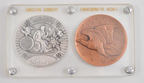 1963 Christian Gobrecht Commemorative Medals Silver & Bronze Set