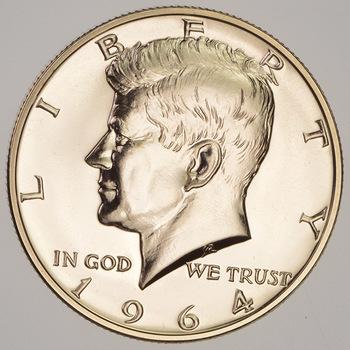1964- PROOF 90% SilverKennedy Half Dollar