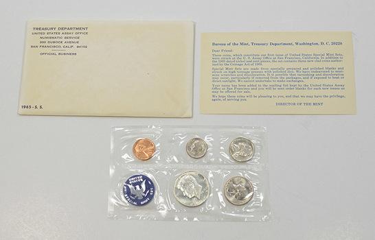 1965 U.S. Mint Silver Special Mint Set - 5 Proof-like Coins - 40% Proof Like Half Dollar