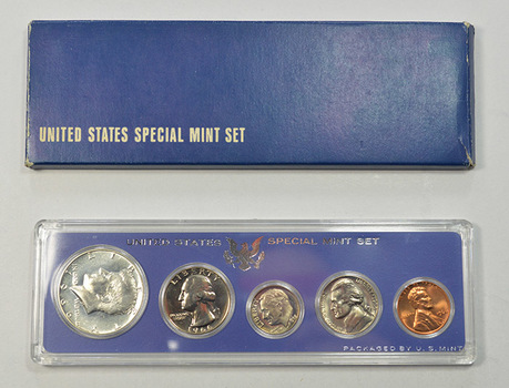 1966 U.S. Special Mint Set including 40% Silver Kennedy Half Dollar