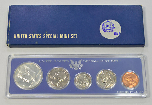 1967 Special Mint Set including .400 Silver Kennedy Half
