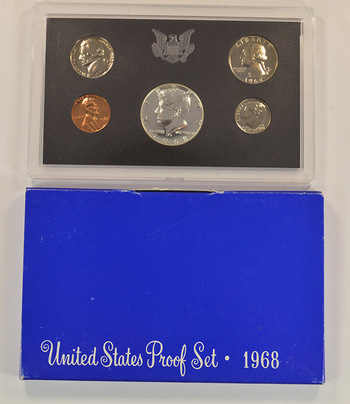 1968-S Proof Set with 40% Silver Kennedy Half Dollar - First Year Proof Set from San Francisco Mint