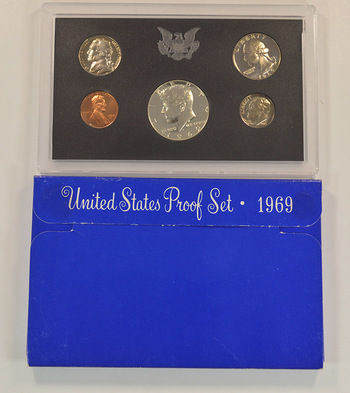 1969-S Proof Set with 40% Silver Kennedy Half Dollar