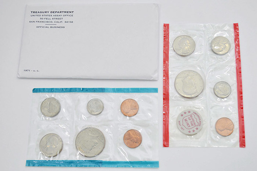 1971 11 Coin Unc. U.S. Mint Set PD and S