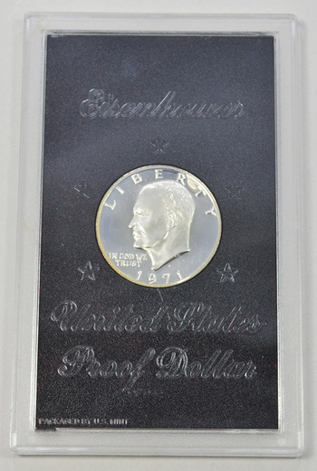 1971-S Silver Cameo Proof Eisenhower Dollar in Original Mint Case