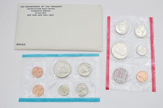 1972 11 Coin Unc. U.S. Mint Set P, D, and S
