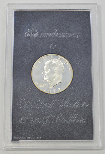 1972-S Silver Cameo Proof Eisenhower Dollar in Original Mint Case