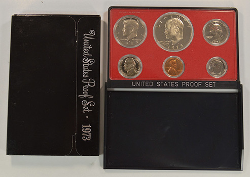 1973-S Cameo Proof Set - Lower Mintage Date - First Year Proof Set with Eisenhower Dollar