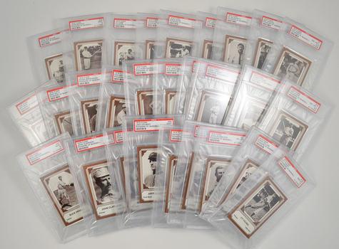 1975 Fleer Pioneers of Baseball Complete Set #1-28 PSA Graded