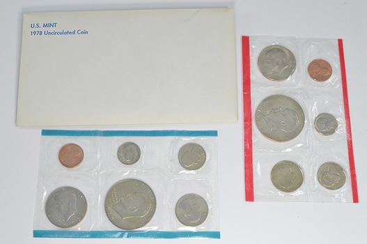 1978 Uncirculated U.S. Mint Set - 12 Coins P & D Including 2 Eisenhower Dollars