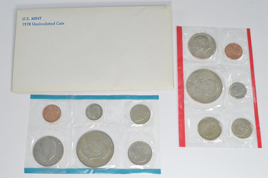 1978 Uncirculated U.S. Mint Set - 12 Coins P & D Including 2 Eisenhower Dollars