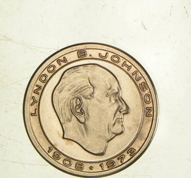 1979 Lyndon B. Johnson 14K Solid Gold Bullion - 3.6 Grams Gold!