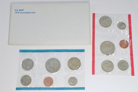 1979 U.S. Mint Set - 12 BU Coins Including 2 First Year Susan B. Anthony Dollars