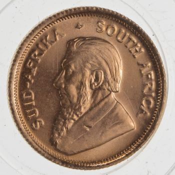 1980 South Africa 1/10 Krugerrand Gold Coin