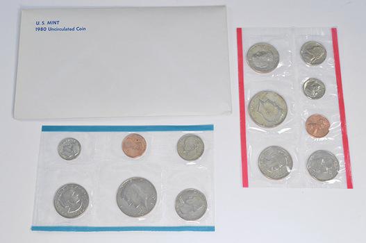 1980 U.S. Mint Set - 13 Coins PDS Including 3 Susan B. Anthony Dollars