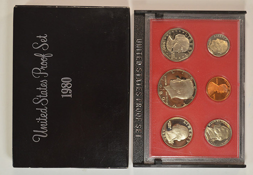 1980-S Deep Cameo Proof Set including Susan B. Anthony Dollar