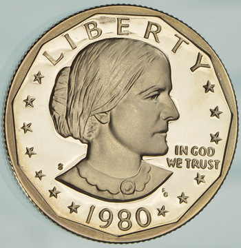 1980-S Deep Cameo Proof Susan B Anthony Dollar