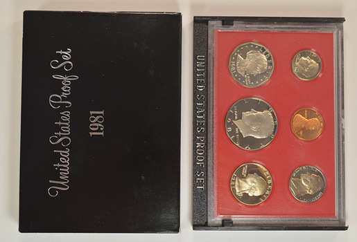 1981-S Deep Cameo Proof Set including Susan B. Anthony Dollar