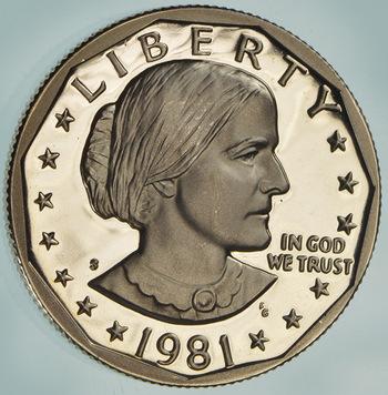 1981-S Deep Cameo Proof Susan B Anthony Dollar
