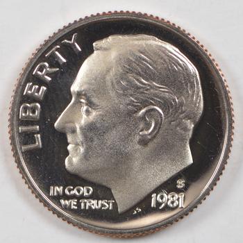 1981-S PROOF Roosevelt Dime - San Francisco Minted